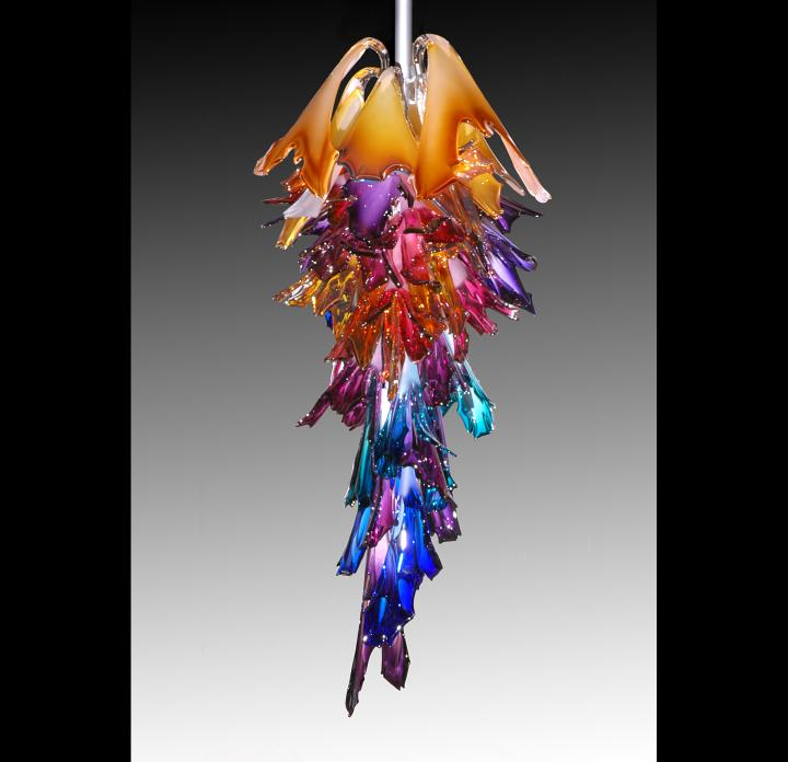 Perfect BARRY ENTNER  HANGING GLASS SCULPTURE . Nice Design
