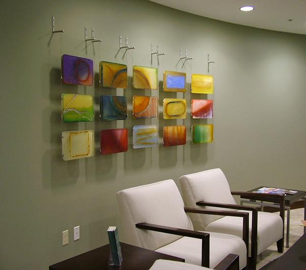 Contemporary Abstract Acrylic Wall Sculpture Size And Color Palette Variable For Corporate Residential Commissions